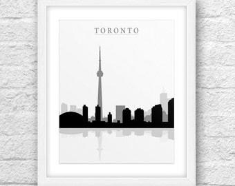 Toronto Ontario Art, Toronto Print, Cities Toronto, Toronto Skyline, Toronto Wall Art, Minimal Design, Minimalist Art