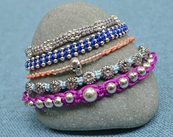 Unique, handmade bracelets stack