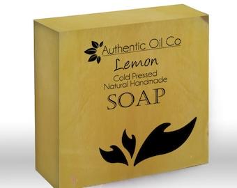 Lemon Traditional cold press handmade soap 80g
