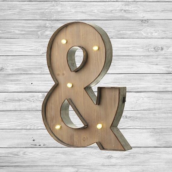 Freestanding Wooden Rustic LED Light Up by LoveLetterLights