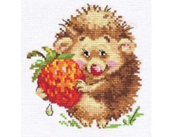 Cross Stitch Kit by Alisa - Hedgehog with Strawberries
