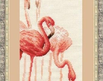 Cross Stitch Kit by Golden Fleece -  Flamingo N 1
