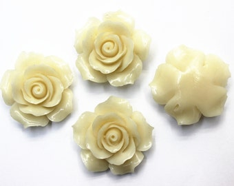 4pcs 30mm Resin Flower Beads, Jewelry Findings, Craft Supplies, Beading Supplies