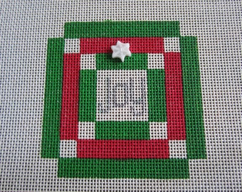 Christmas Joy Quilt Needlepoint Canvas