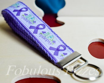 Epilepsy Awareness Hope for Epilepsy Wristlet Keychain/Keyfob