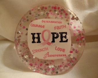 Breast Cancer Awareness Magnet, Hope magnet, awareness refrierator magnet, breast cancer resin magnet, resin,refrigerator magnet, (item#115)