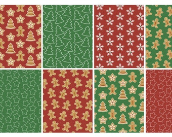 Christmas Cookie Cutter Full Box stickers (planner stickers)