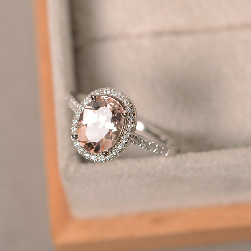 Morganite And Silver Ring