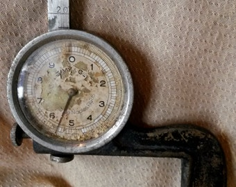 Old Tools, Vintage Micrometer, 1930s Tools, Machinist Tools, Gauge