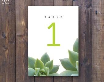 Wedding Table Numbers 1-20, Printable Table Numbers, rustic table number, succulent table numbers, Wedding Printable, Wedding table Sign