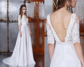 Wedding dress DINE, Bridal gown, boho wedding, wedding dress style vintage, boho wedding dress, dress wedding
