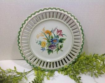 Vintage Hand Painted Italian Plate