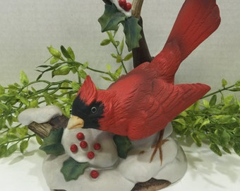 Cardinal and Holly by Sadek 7178 Superior Porcelain