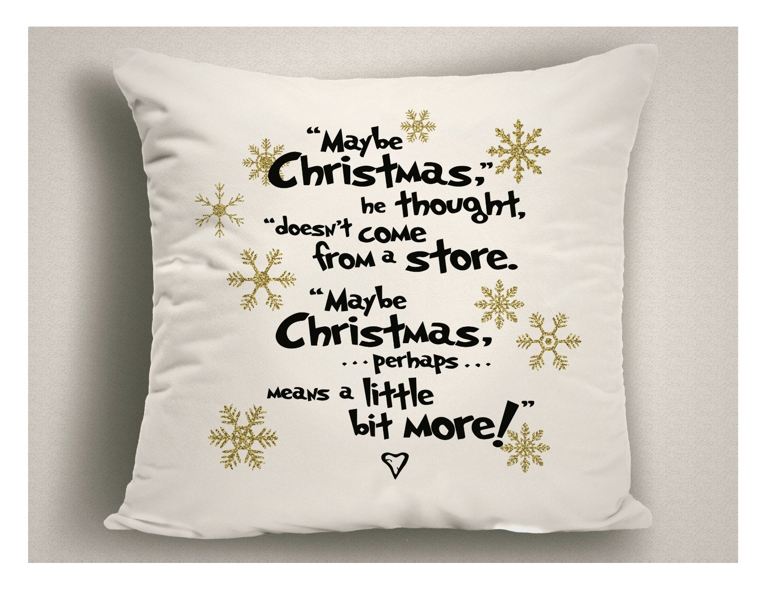 Christmas decorations with dr seuss quote holiday