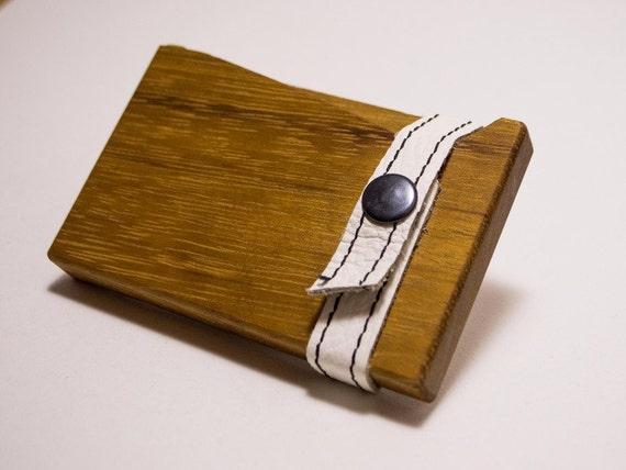 Wood wooden Business card case holder IROKO Wood by EWARTWOODS