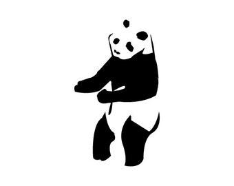 Dancing Panda Decal-Panda-Vinyl Decal