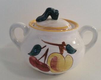 Stangl Fruit Sugar Bowl #3697