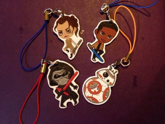 "Star Wars:The Force Awakens 1""Keychain/CellPhone Charms"