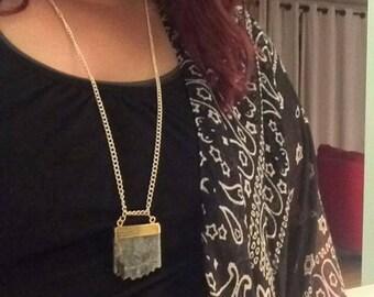 Long Blue Stone Necklace