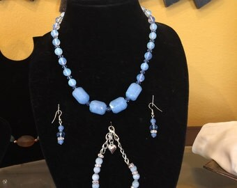 Handmade  aquamarine  set