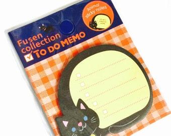 Black Cat To Do List Memo Pad