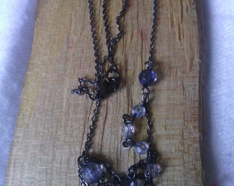 Lavender Beaded Chain Necklace