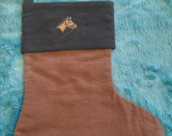 A horse Christmas Stocking