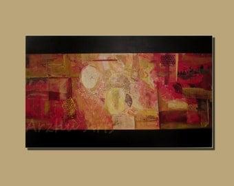 Abstract Acrylic Art on Canvas