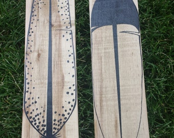 Reclaimed Wood Feather Signs. Set of two Pallet Wood Feathers. Great Home Decor!