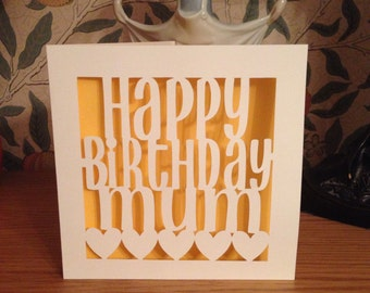Papercut - Happy Birthday Mum Card