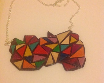 Mosaic necklace / mosaic necklace