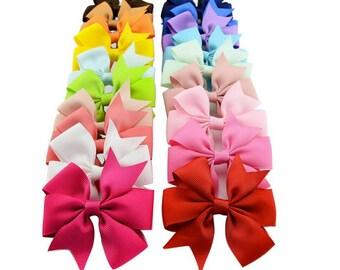 10 - 3 inch Hair bows, Dollar hair bow, One Dollar Bow, Cheap bows, 3 inch hairbow