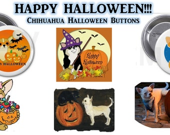 Chihuahua Halloween Buttons