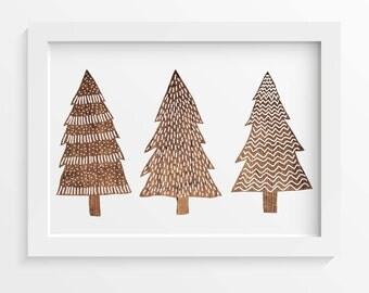 Christmas Tree Print, Rustic Wood, Christmas wall art, Christmas print, Christmas printable, INSTANT DOWNLOAD, Christmas tree, Holiday art