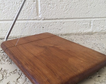 Vintage Cheese Board with Slicer