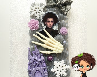 New pastel Goth Edward Decoden box For Iphone 6 only!