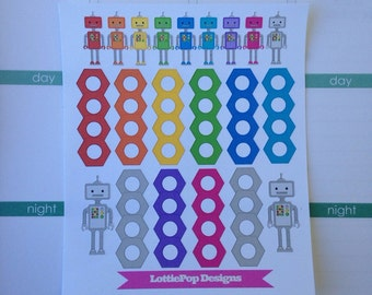 Tiny Robots Planner Stickers