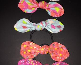 Hair bow hair ties