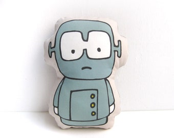 Stuffed Doll Robot, Robot Rag Doll, Rag Doll, Plush Doll, Stuffed Robot