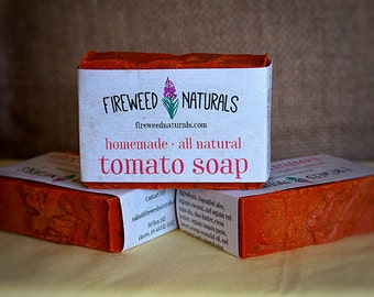 Premium, All-Natural, Tomato Soap Bar - Vegan Friendly, Cold Process