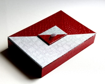 Jewelry case - red and silver