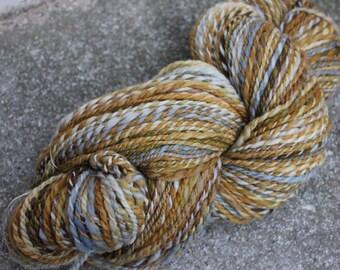 Handspun 2-ply Portugese Merino Heavy Worsted rustic yarn