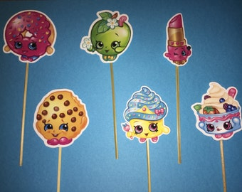 shopkins cupcake topper, shopkins party  decoration, donuts shopkins  cupcake, shopkins birthday cupcake toppers, shopkins inspired