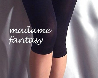 Black thin short spandex leggings