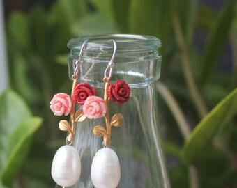 Gemstone Earrings, Pearl earrings, Silver earrings, Crystal Earrings, Crystal Dangle Earrings, Gemstone Dangle Earrings, gemstone Jewelry