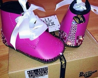 Baby Crib Crystallised Dr Martens Shoes