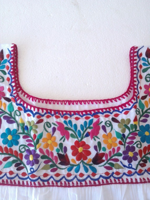Hand embroidery mexican blouse boho chic top folk by