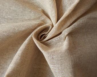 1 yard of Jute Cotton Fabric, Indian Cotton Fabric, Beige Jute Fabric, Indian Fabric