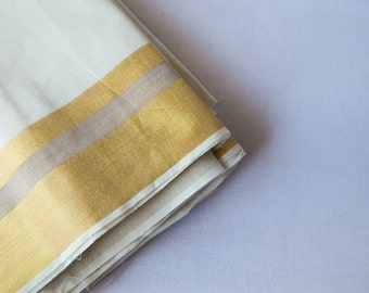 1 yard of South Cotton Fabric, Handwoven Fabric, Indian Cotton Fabric, Indian Fabric, Ethnic Fabric, Off-White Fabric