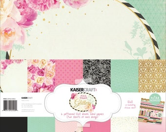 KaiserCraft All That Glitters Scrapbook Paper Collection Kit